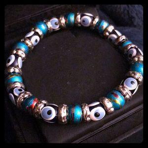 Beautiful evil eye beaded bracelet